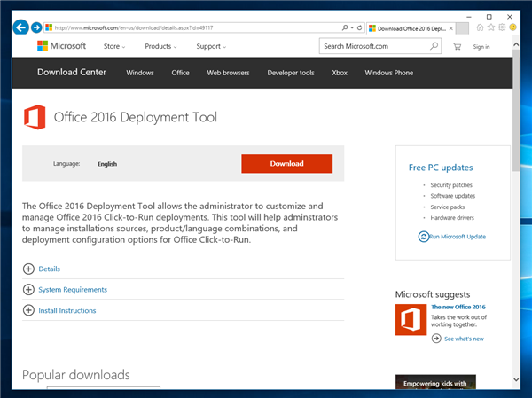 download office deployment tool